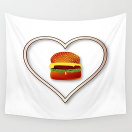 Love Burgers Wall Tapestry