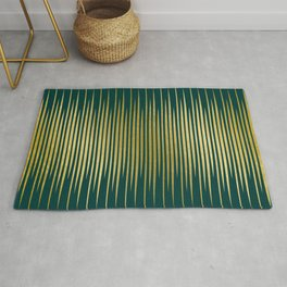 Linear Gold & Emerald Rug