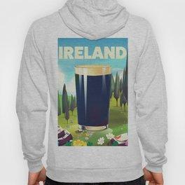 Ireland cartoon travel poster Hoody