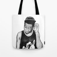 tyler the creator Tote Bags featuring Tyler the Creator by Rui Faria
