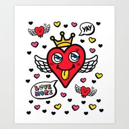 Heart is my King Art Print