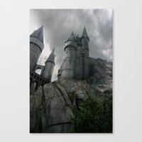 hogwarts Canvas Prints featuring Hogwarts by Jessica Krzywicki