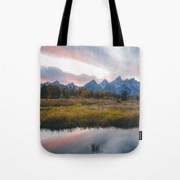Grand Teton Sunset Tote Bag