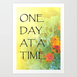 One Day at a Time (ODAT) Lilacs & Poppies Art Print