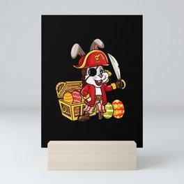 Cute Pirate Easter Bunny design   Egg Hunters Gift Mini Art Print
