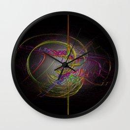 Neon Smoke  Wall Clock