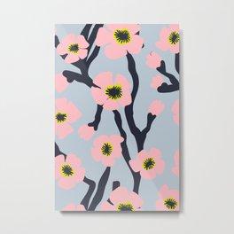 Pink Blooms Everywhere No 02 Metal Print