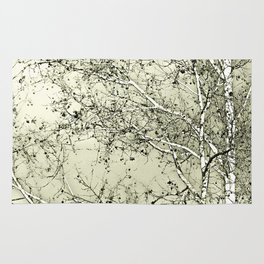 Sycamore Tree, Inky Green Toile Version Rug