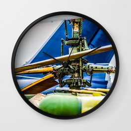 Coaxial Main Rotor Of A Modern Helicopter. Blades And Tails Aviation Art Wall Clock