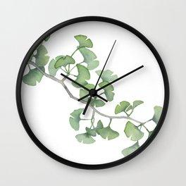 GINKGO, painting by Frank-Joseph Wall Clock