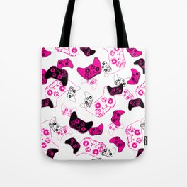 Video Game White & Pink Tote Bag