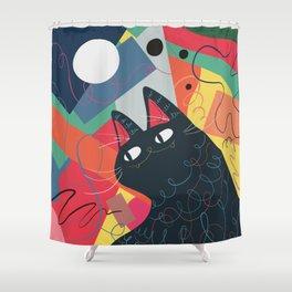 Trumpet Cat Shower Curtain
