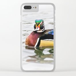 Wood Duck Two Clear iPhone Case