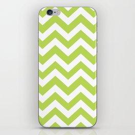 June bud - green color - Zigzag Chevron Pattern iPhone Skin