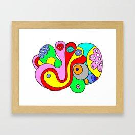 psychedelic cell (illustration) Framed Art Print