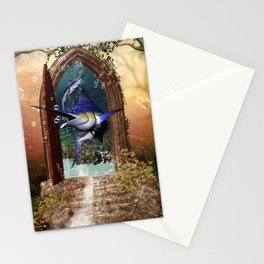 Awesome marlin Stationery Cards
