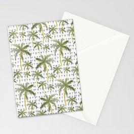 Coastal Christmas Lights and Palm Trees Stationery Cards