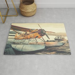 Floatplane in Sunset Rug