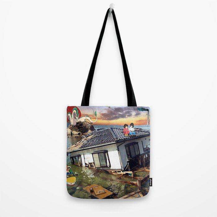 Beyond the Sea - Spirited Away / Ponyo Tsunami Series Tote Bag