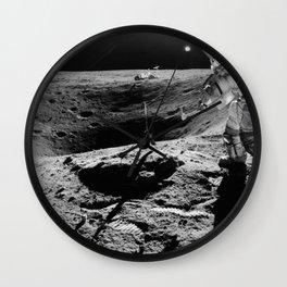Apollo 16 - Moon Astronaut Crater Wall Clock