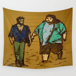 out the hatch Wall Tapestry