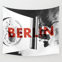 berlin Wall Tapestries featuring Berlin by Awesome