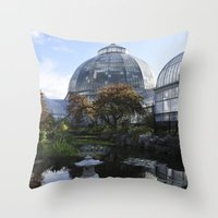 amy pond Throw Pillows featuring The Pond by Amy Claeys