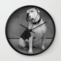 allyson johnson Wall Clocks featuring Johnson by Nicole Mlakar