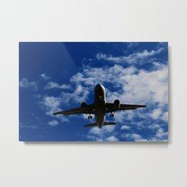 Airbus 319 Wheels Down Metal Print