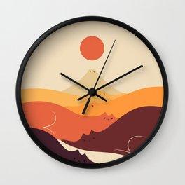 Cat Landscape 87 Wall Clock