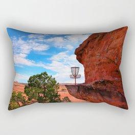 Disc Golf Basket in Moab Utah Rectangular Pillow