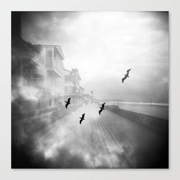 """Birds of a Feather"" Holga Double Exposure in San Diego, California Canvas Print"
