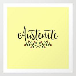 Jane Austen Floral Austenite Art Print