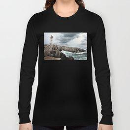 Peggy's Cove Light House -- Nova Scotia Long Sleeve T-shirt