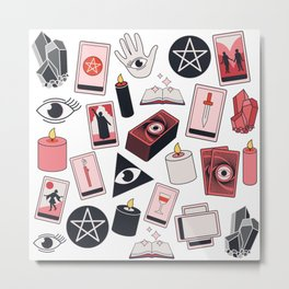 Tarot Girl Metal Print