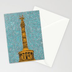 Siegessäule Drawing Meditation - Blue Stationery Cards