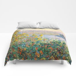 Flower Beds at Vétheuil by Claude Monet 1881 Comforters