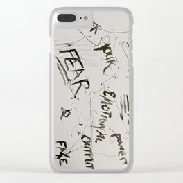 Fear is Fake Clear iPhone Case