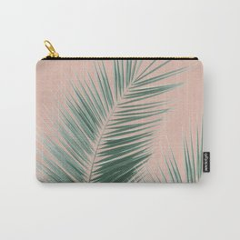 Soft Green Palm Leaves Dream - Cali Summer Vibes #1 #tropical #decor #art #society6 Carry-All Pouch
