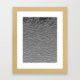 Dark Side of the Moon Silver Crater Abstract Framed Art Print
