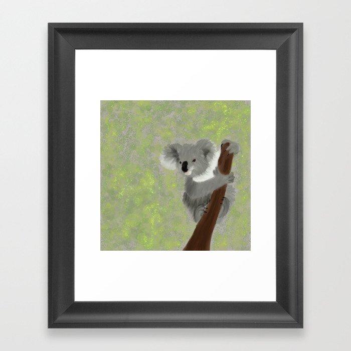 Koala Bear Hanging In There Framed Art Print