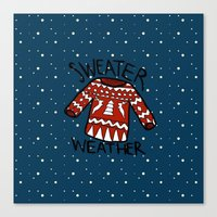 sweater Canvas Prints featuring Sweater by Mr and Mrs Quirynen