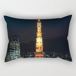 Tokyo Tower By Night Rectangular Pillow