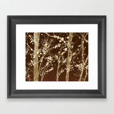 Make it Through (woodland brown edition) Framed Art Print