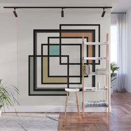 Mid Century Modern Squares Wall Mural