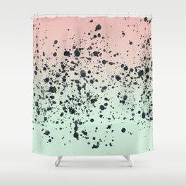 Mint, Blush, Back. Shower Curtain