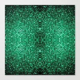 Beautiful Emerald Green glitter sparkles Canvas Print