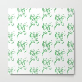 Follow the Herd All Over Green #637 Metal Print