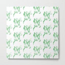 Follow the Herd Pattern - Green #637 Metal Print