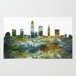 Cleveland Ohio Skyline Rug